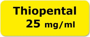 Thiopental 25mg